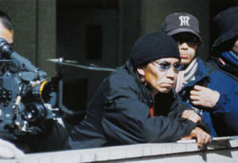 Miike sul set di Ichi The Killer